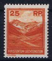 Liechtenstein: 1933 Mi 119  MH/* Falz/ Charniere - Unused Stamps