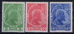 Liechtenstein: 1912 Mi  1x - 3 X MH/* Falz/ Charniere - Ungebraucht