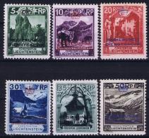 Liechtenstein: 1932 Mi  Dienst  1 - 6  MH/* Falz/ Charniere  Part Set - Official