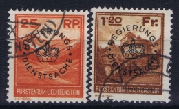 Liechtenstein: 1933 Mi  Dienst  9 - 10 Used - Official