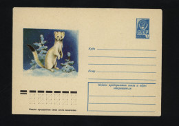 USSR 1978 Postal Cover Fauna Ermine  (378) - Autres