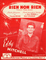 PARTITION FRANCO ANGLAISE EDDY MITCHELL - RIEN NON RIEN/RUN FOOL RUN - 1963 - EXCELLENT ETAT - - Sonstige