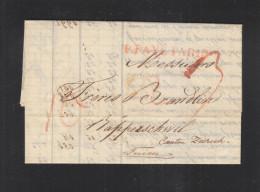 Lettre Paris Pour La Suisse Movement Des Cotons 1824 - Marcophilie (Lettres)