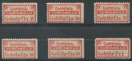 1412 - SUMISWALD Fiskalmarken - Fiscaux