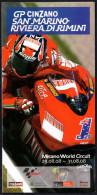 MOTORCYCLING - MISANO WORLD CIRCUIT 2008 - GP CINZANO SAN MARINO RIVIERA DI RIMINI - DEPLIANT PIEGHEVOLE 12 PAGINE - Sport