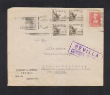 Carta Sevilla Censura Militar Por Hamburgo - 1931-Heute: 2. Rep. - ... Juan Carlos I