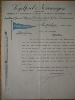 Brief 1927 AMSTERDAM - VOGELPOEL & NOORWEEGEN-Expediteurs-General Shippings & Forwarding Agents-spedition-commis - Pays-Bas