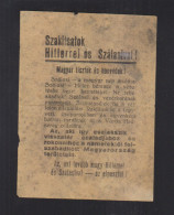 Hungary Surrender Flyer WWII Red Army Russia 1944 - Documenti Storici