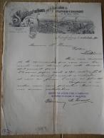 Brief 1900 ASCAHFFENBOURG - Société Par Actions Pour La Fabrication De Papier Colorié Et De Colle Forte - 1900 – 1949