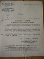 Brief BERLIN -  BRUXELLES - FRANZ SCHMIDT & HAENSCH - Atelier D'optique - 1900 – 1949