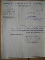 Lettre 1922 BRUXELLES - BANQUE COMMERCIALE DE BELGIQUE - Sin Clasificación