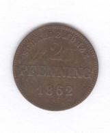 2 Pfennig Bavière 1862 - TTB+ - Petites Monnaies & Autres Subdivisions