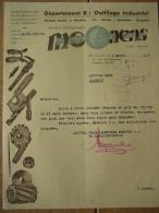 Lettre 1944 BRUXELLES -  Ets MOONENS  - Outillage Industriel - Belgique