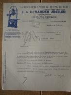 Lettre 1938 BRUXELLES - J. & CH. VANDEN ABEELEN - Constructeurs De Machines-outils Pour Le Travail Du Bois - Belgio