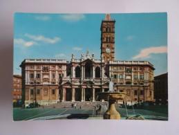 POSTCARD ITALY ITALIA ITALIE ROMA ROME BASILICA DI S. MARIA MAGGIORE BASILICA BASILIQUE DE SAINT MARIA MAGGIORE 1960s PC - Eglises