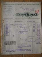Factuur 1925 KORTRIJK - G. & A. LAGAE - Tissage Mécanique & à La Main De Toiles, Batistes & Mouchoirs - Unclassified