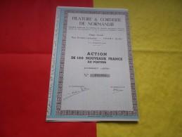 FILATURE & CORDERIE DE NORMANDIE (yport,seine Maritime) Seulement 100 Titres Emis - Actions & Titres