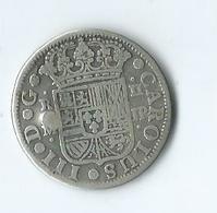 2 Reales 1760 Carolus III Argent - Münzen Der Provinzen