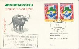 RF 71.23, Air Afrique, Libreville - Genève, DC-8 - Gabon (1960-...)