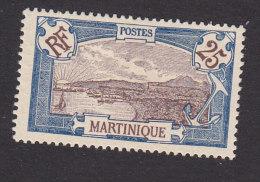 Martinique, Scott #74, Mint No Gum, View Of Fort-de-France, Issued 1908 - Martinique (1886-1947)