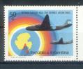 ARGENTINA ANTARTIDA 1972, 10° ARGENTINE AIRCRAFT ARRIVAL SOUTH POLE 1 VALOR - 10 AÑOS DEL ARRIBO DE AVIONES ARGENTINOS A - Vuelos Polares