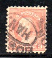 Y280 - STATI UNITI 1916 , 9 Cent N. 313 Usato Dent 10 Senza Filigrana - Used Stamps