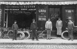 Tours : Carte Photo Albert Papin Machines à Coudre Cycles - Tours