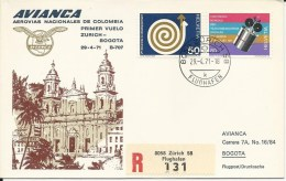 RF 71.14, Avianca, Zurich - Bogota, B-707, Recommandé - Colombie