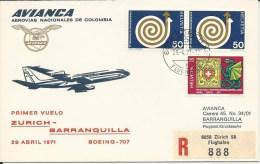 RF 71.14, Avianca, Zurich - Barranquilla, B-707, Recommandé - Colombie