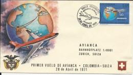 RF 71.14, Avianca, Bogota - Zurich, B-707 - Colombie