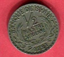 SYRIE 1/2 PIASTRE 1921 TB+7 - Syrie