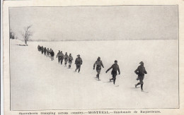 Montreal - Snowshoers Tramping Across Country - Randonnée De Raquetteurs (top Animation ! + Press Cutting) - Montreal