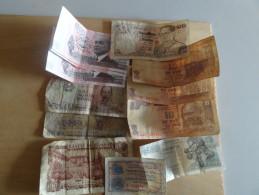 Lots 12 Billets Monde - Monnaies & Billets