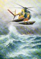 Servizio Aereo Della Guardia Di Finanza - Elicottero NARDI - HUGHES  500 M - In Versione Anfibia - - Elicotteri