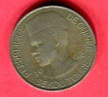 GUINE 10 FRANC  1962 TB 9 - Guinée Française