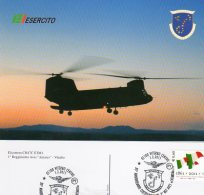 "VITERBO - 2011 - 35° Anniv. Costituzione 1° RGT  AVES "" ANTARES "" - Elicottero CH47CM1 - - Elicotteri"