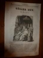 1836 LM : Gravure La Femme Hydropique(Gérard Dow) Le Corossol (arbre) ; Gravure De SCHILLER, De Marbach; Les Comètes - Vieux Papiers