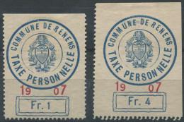 1433 - RENENS Fiskalmarken - Steuermarken