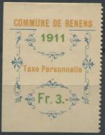 1436 - RENENS Fiskalmarke - Fiscaux