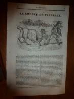 1836 LM :Le COMBAT De TAUREAUX;Le Chevalier De Latude;Le FOU (oiseau);Château De VINCENNES;Louis IV Dit D'OUTRE-MER - Vieux Papiers