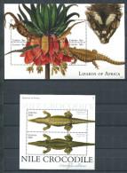 158 LIBERIA 2011 - Lezard Crocodile (Yvert 5108/11 - BF 614) Neuf ** (MNH) Sans Trace De Charniere - Liberia