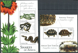 158 LIBERIA 2011 - Serpent Tortue (Yvert 5112/14 - BF 615) Neuf ** (MNH) Sans Trace De Charniere - Liberia
