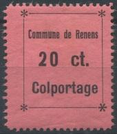 1439 - RENENS Fiskalmarke - Fiscaux