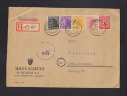 SBZ R-Brief 1948 Leipzig Nach Kräwinkelbrücke Zensur - Sowjetische Zone (SBZ)