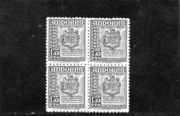 Andorre Espagnol ,1948-53 , Armoiries ,bloc De 4 - Neufs