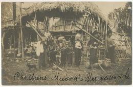 Carte Photo Chretiens Muong Une Maison Riche - Vietnam