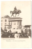 OSTENDE   ---  Le Monument Léopold I  ( 2 SCANS ) - Oostende
