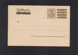 Dt. Reich GSK Mit Zudruck Drucksache/ Postkarte Ungebraucht - Deutschland
