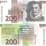 Slovenia P15d, 200 Tolar, Organ, Composer Gallus / Philharmonic Hall, Music Note - Slovenia