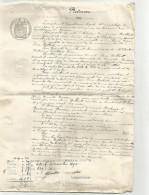 ACTE EN 2 FEUILLETS FILIGRANE PAPIER TIMBRE FRANCE 1886 - Fiscaux
